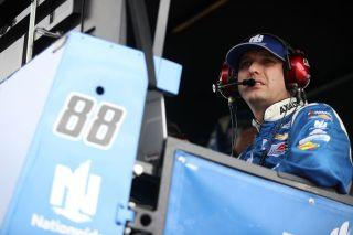 Greg Ives, crew chief of the No. 88 Hendrick Motorsports Chevrolet Camaro of Alex Bowman. (Photo by Chris Graythen/Getty Images)