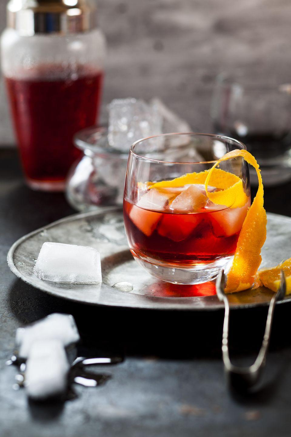 "<p>""In Mexico, mezcal makes you magical! It's the ancient gods' elixir and my personal favorite during the holidays with family, friends, and — with this Negroni, lots of laughter."" – <a href=""http://olgahanono.com/"" rel=""nofollow noopener"" target=""_blank"" data-ylk=""slk:Olga Hanono"" class=""link rapid-noclick-resp"">Olga Hanono</a>.</p><p><strong>Olga's Negroni Recipe</strong><br></p><p><strong>Ingredients:</strong><br>1 ounce mezcal Montelobos Espadin</p><p>1 ounce Ancho Reyes</p><p>1 ounce Campari</p><p>Orange slice, for garnish</p><p>Cinnamon stick, for garnish</p><p><strong>Directions:</strong><br>Stir together mezcal, Ancho Reyes, and Campari. Serve over ice in a rocks glass. Garnish with an orange slice and cinnamon stick. <br><br></p>"
