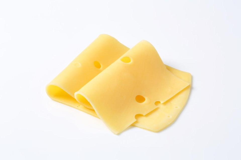 <p><strong>This option is one of the lowest-sodium cheeses around </strong>and still tastes great on crackers or a sandwich. Add a slice of tomato or vegetable of your choice for extra nutrition.</p>