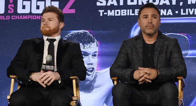 Canelo Alvarez was suspended six months for failed drug tests, and Oscar De La Hoya said he would be tested every day until a rematch with Gennady Golovkin. That hasn't happened. (Getty Images)