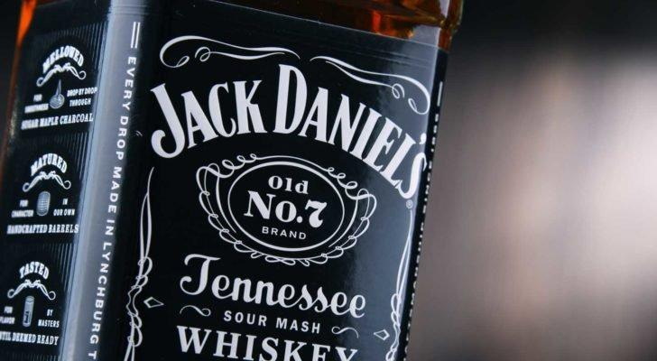 a close up of Jack Daniels Whiskey