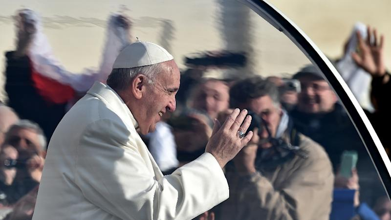 Pope Francis has also weighed into the debate on same-sex unions, reminding Catholics the Church rejects all forms of union outside of marriage between a man and a woman (AFP Photo/Alberto Pizzoli)