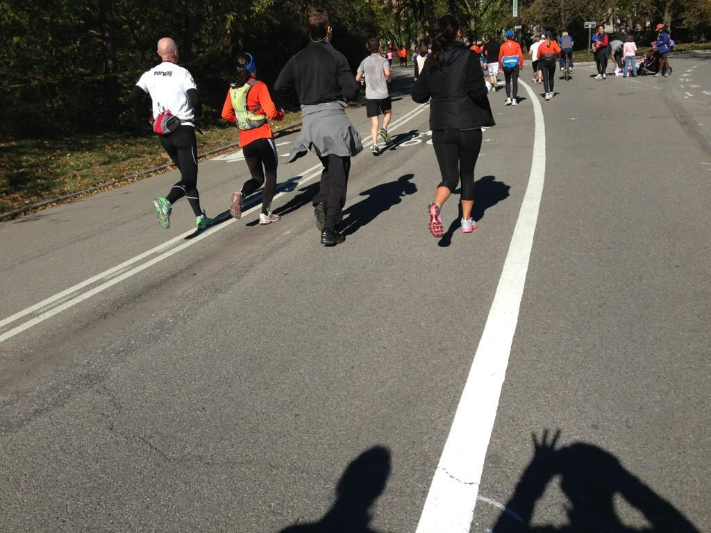 Determined #unofficial #nycmarathon runners.