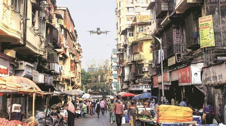 drones to combat covid 19, coronavirus drones, drones to disinfect places, drones to sanitise, indian express