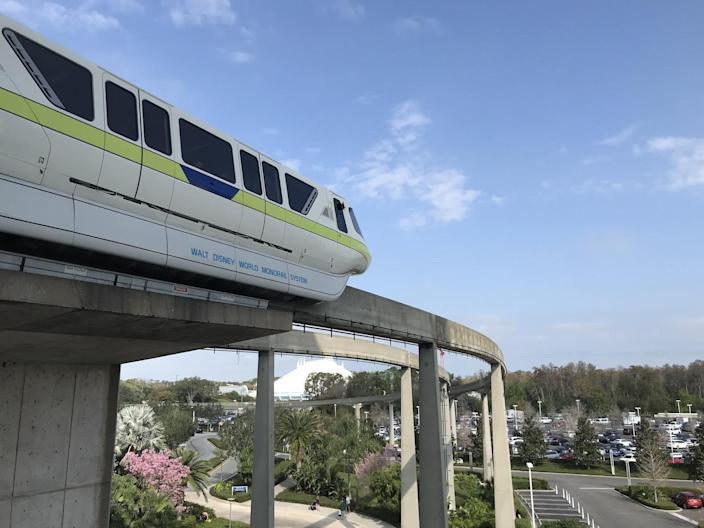 the monorail at disney world in florida