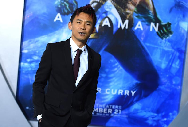 "Director James Wan arrives at the premiere of ""Aquaman"" at TCL Chinese Theatre on Wednesday, Dec. 12, 2018, in Los Angeles. (Photo by Jordan Strauss/Invision/AP)"