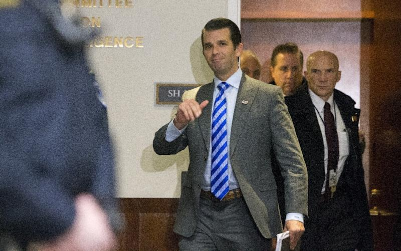 Donald Trump Jr. has testified before congressional committees over his contacts with Russians during his father's election campaign (AFP Photo/TASOS KATOPODIS)