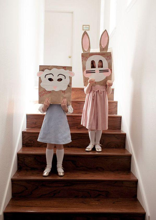 """<p>Instantly transform your little ones into (the cutest!) lambs, chicks, and bunnies with these easy-to-make masks.</p><p><strong>Get the tutorial at </strong><strong><a href=""""http://ohhappyday.com/2013/03/brown-sack-easter-masks-diy/"""" rel=""""nofollow noopener"""" target=""""_blank"""" data-ylk=""""slk:Oh Happy Day"""" class=""""link rapid-noclick-resp"""">Oh Happy Day</a>.</strong></p>"""