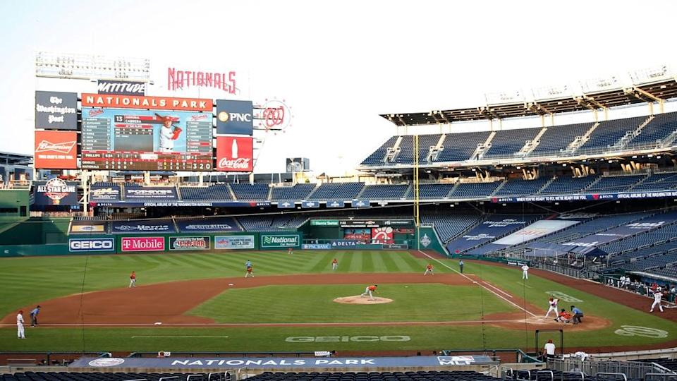 General view of Nationals Park in 2020