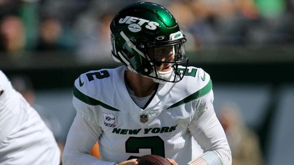 Zach Wilson, of the New York Jets, is shown before the game. Sunday, October 3, 2021.