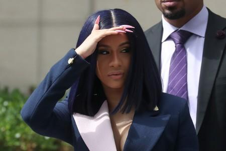 Singer Cardi B leaves Queens County Criminal Court in the Queens Borough of New York