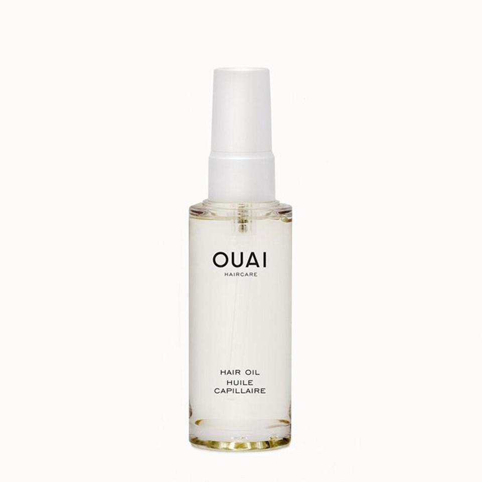 """<p>""""Shining, shining, shining, shining, yeah…"""" Ouai's penetrating, quick-absorbing, and nutrient-packed Hair Oil is so good, it makes us want to break out into song. Luckily, you can't hear us, but you can see the wonders this baby can do when you add a few drops to wet hair. But the best part about this oil is that it actually has more than one use — <a href=""""https://www.allure.com/story/jen-atkin-home-interview-where-the-heart-is?mbid=synd_yahoo_rss"""" rel=""""nofollow noopener"""" target=""""_blank"""" data-ylk=""""slk:founder Jen Atkin"""" class=""""link rapid-noclick-resp"""">founder Jen Atkin</a> created it to double as an overnight hydrating mask.</p> <p><strong>$14</strong> (<a href=""""https://shop-links.co/1622266726188461083"""" rel=""""nofollow noopener"""" target=""""_blank"""" data-ylk=""""slk:Shop Now"""" class=""""link rapid-noclick-resp"""">Shop Now</a>)</p>"""