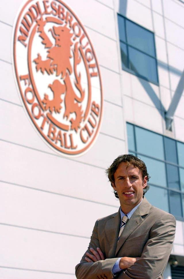 Gareth Southgate captained and coached Middlesbrough