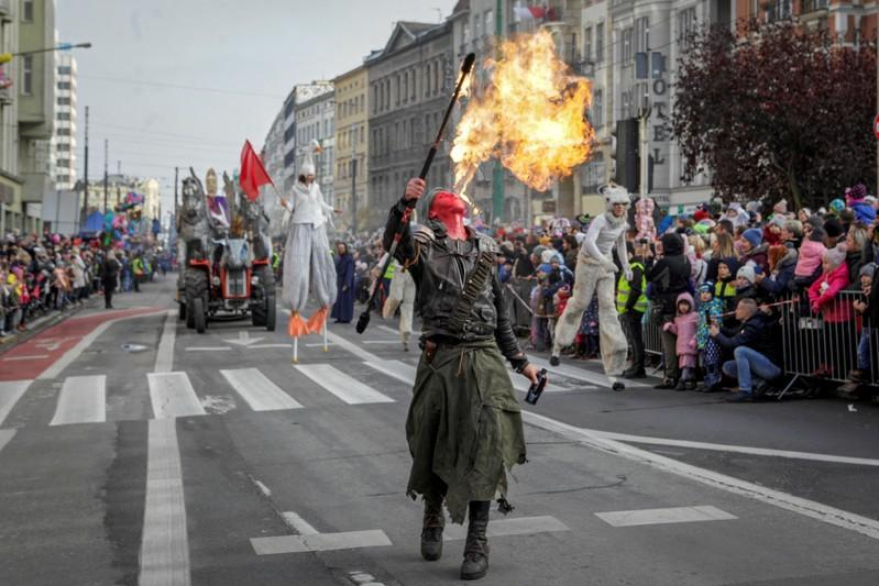 People mark the National Independence Day in Poznan