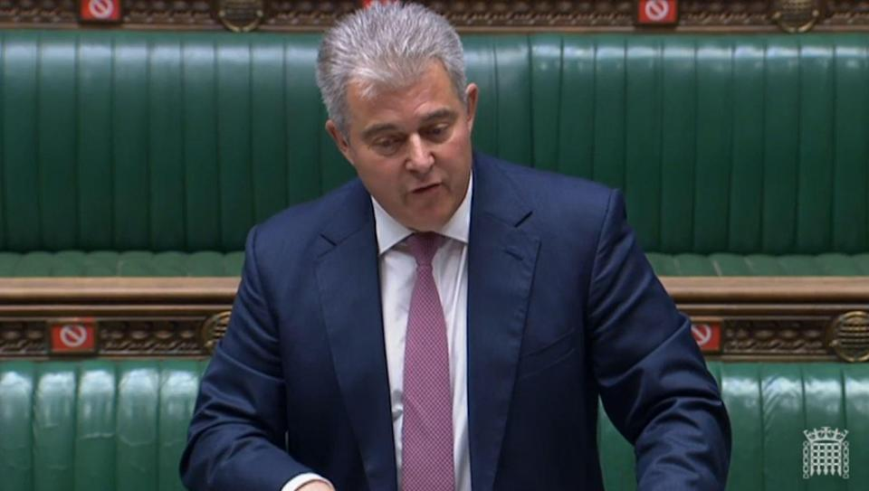 Northern Ireland Secretary Brandon Lewis speaking in the House of Commons (House of Commons/PA) (PA Wire)