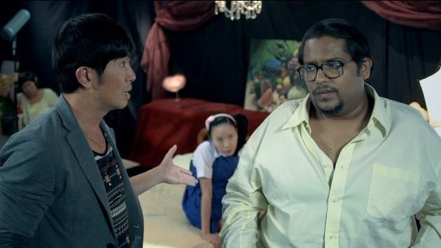 "Adrian Pang and Vadi PVSS star in the short film ""Porn Masala"", one of three parts in Sex.Violence.FamilyValues (Photo courtesy of Ken Kwek)"