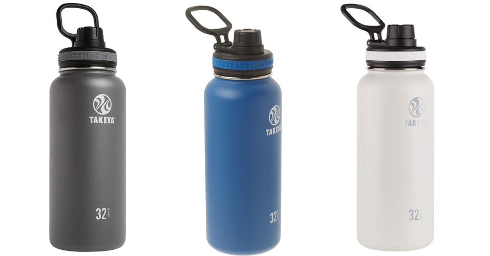 Takeya Originals Vacuum-Insulated Stainless-Steel Water Bottle, 32oz (Photo: Amazon)
