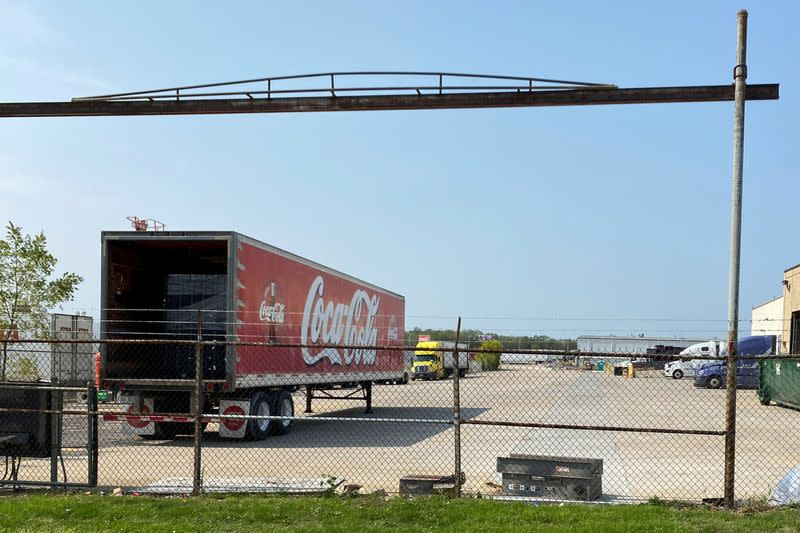 A Coca-Cola bottling plant owned by Reyes Holdings' Great Lakes unit is seen in Alsip