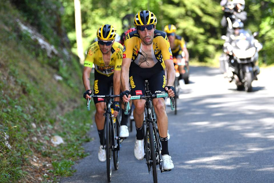 Dumoulin led most of the way up the Grand Colombier