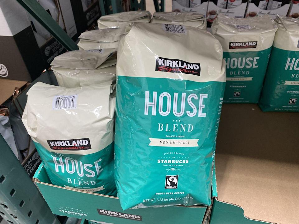 <p>It's no surprise why Kirkland Coffee is highly rated — it comes from a brand we already know and love. The 32-ounce bag of Kirkland Signature House Blend Medium Roast (or Espresso Blend Dark Roast) is custom-roasted by Starbucks. It'll save you a few dollars without losing that quality taste.</p>