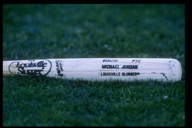 26 Oct 1994: General view of the bat being used by Michael Jordan of the Scottsdale Scorpions.