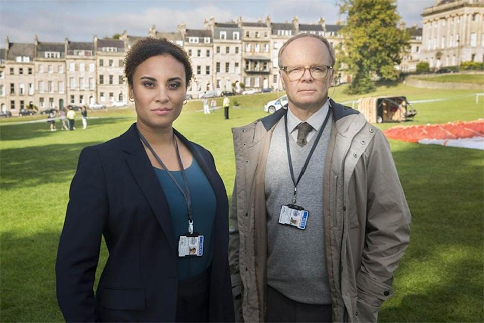 <p>Tala Gouveia and Jason Watkins return as an unlikely detective duo in 'McDonald & Dodds'  </p> (ITV)