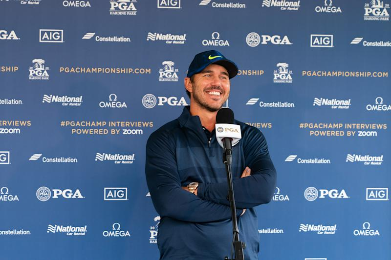 Why is this man smiling? Because he's one of the favorites this week. (Photo by Darren Carroll/PGA of America via Getty Images)