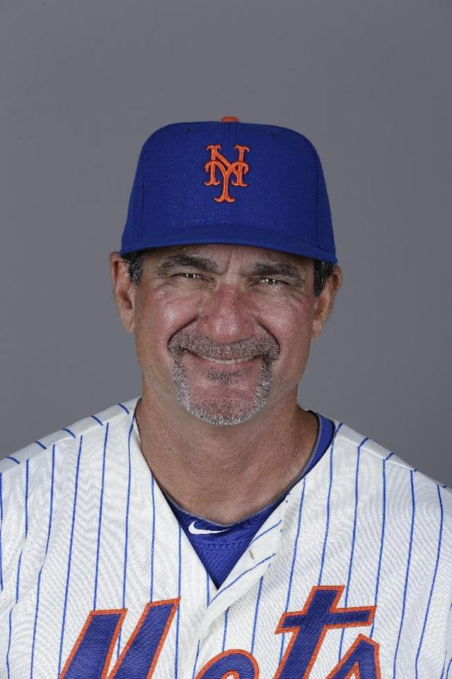 This is a 2014 photo of batting coach Dave Hudgens of the New York Mets baseball team. This image reflects the Mets active roster as of Wednesday, Feb. 26, 2014 when this image was taken. (AP Photo/Jeff Roberson)