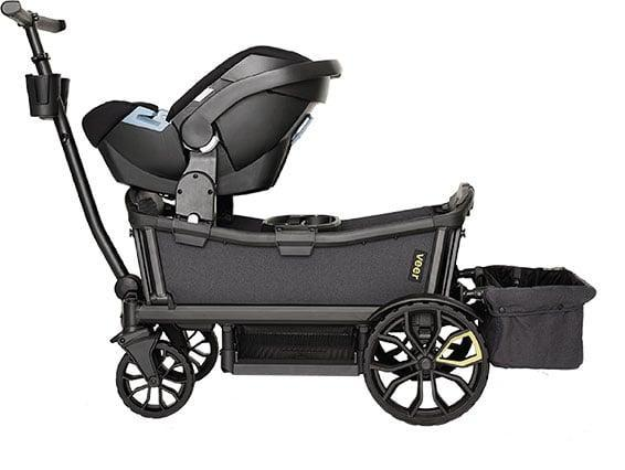 <p>While the <span>Veer All-Terrain Cruiser Wagon</span> ($599) is technically a wagon, parents have been using it in place of double strollers. It meets stroller safety standards and has all of the same functionality required of a double stroller, but with the option to have fun when you want to use it as a wagon. To make it more stroller-like, just pick up some accessories, like the Infant Car Seat Adaptor or canopy.</p>