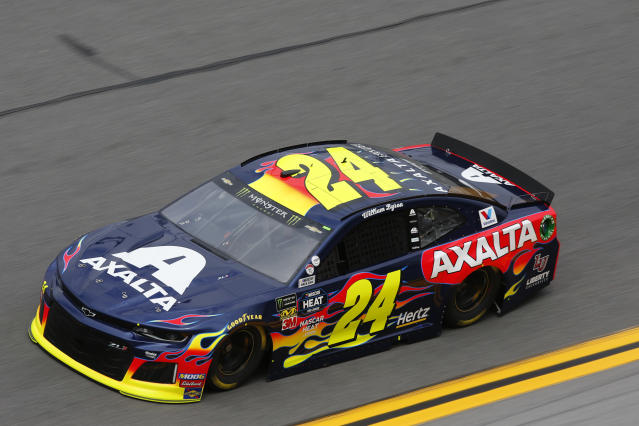 "<a class=""link rapid-noclick-resp"" href=""/nascar/sprint/drivers/3791/"" data-ylk=""slk:William Byron"">William Byron</a> has the fifth-straight Daytona 500 pole for Hendrick Motorsports. (Photo by David Rosenblum/Icon Sportswire via Getty Images)"
