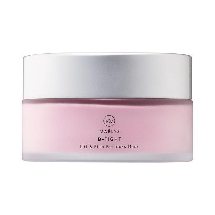 This best-selling butt mask MAELYS Cosmetics' B-Tight Lift & Firm Booty Mask uses Kaolin clay to clear oil, blackheads, and blemishes from your pores, plus ingredients to moisturize your skin and tighten and tone, like caffeine.