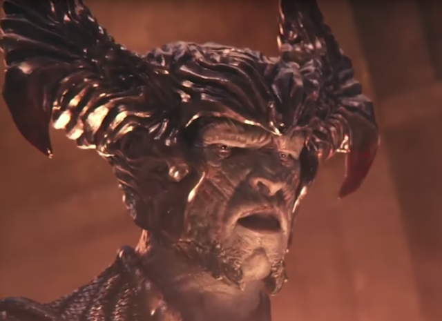 "At one point in <i>Justice League</i>, Steppenwolf cries out, ""For Darkseid!"" In the comics, Steppenwolf is Darkseid's uncle. (Photo: Warner Bros.)"