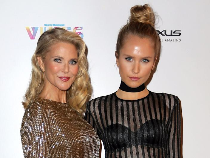 Christie Brinkley, left, and Sailor Brinkley Cook at the VIBES by Sports Illustrated Swimsuit 2017 launch festival on February 17, 2017 in Houston, Texas.