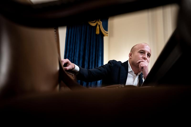 Rep. Max Rose (D-N.Y.) during a House Homeland Security Committee hearing on Capitol Hill in Washington, Oct. 30, 2019. (Erin Schaff/The New York Times)