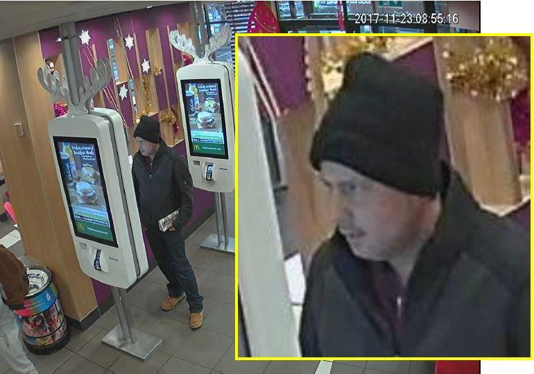 Isaacs was seen using Mr Booth's stolen debit card to purchase himself a McDonald's meal (SWNS)
