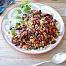 <p>The bold flavors of the lemon-cumin dressing in this healthy bean salad recipe make it a wonderful side dish to grilled beef and lamb, yet it's also a stellar meatless main when served with whole-wheat couscous.</p>