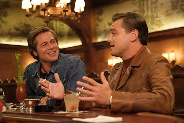 Pitt and DiCaprio in Once Upon A Time In Hollywood (Credit: Sony)