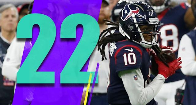<p>I respect Deshaun Watson's toughness and his willingness to sacrifice his body to make a play. But the Texans need to do a better job protecting him. (DeAndre Hopkins) </p>