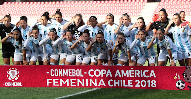 The Argentina women's national team made a statement at the 2018 Copa America Femenina. (via El Faro Deportivo Chile)