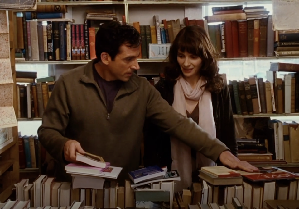 Dan and Marie talking in the bookstore