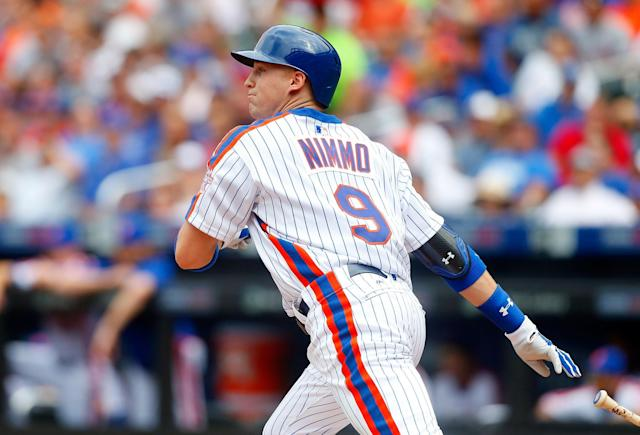 The Mets' Brandon Nimmo hit .352/.423/.541 this season in Las Vegas. (Getty Images)