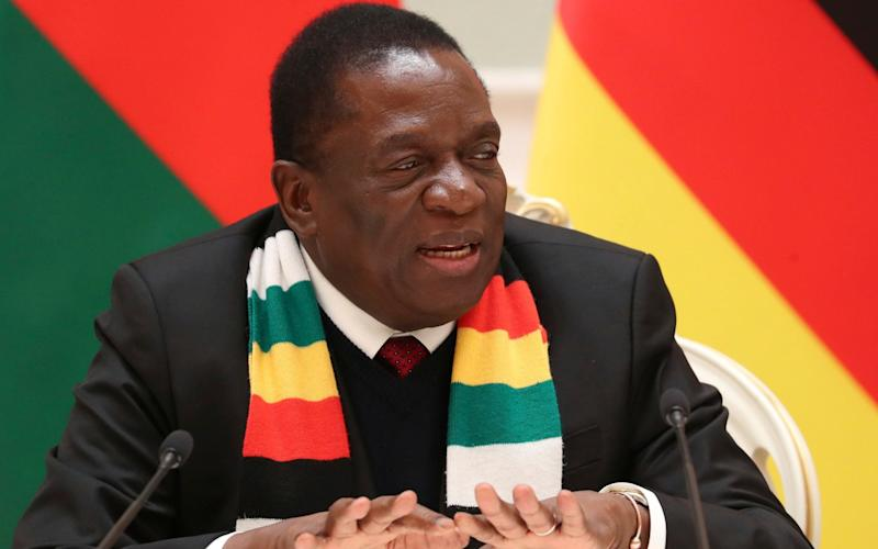 Mr Mnangagwa attempted to shift blame to rogue security services as he cut short a trip to Davos - POOL TASS News Agency