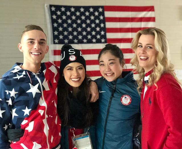 <p>@chockolate02: Crush it in the Team Event @mirainagasu and @adaripp Love you two! #TeamUSA #PyeongChang2018<br>(Photo via Instagram/chockolate02) </p>