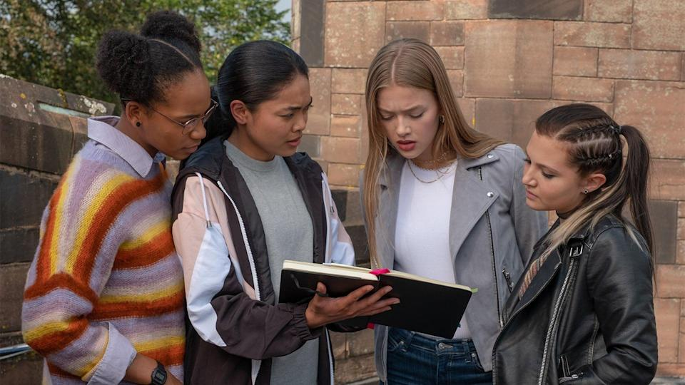 """<p>This British drama revolves around a group of teens who decide to team up to expose their school's bullies - though things become complicated when the girls are framed for one of their target's murders. </p> <p><a href=""""http://www.netflix.com/search?q=Get%20even&amp;jbv=81001036"""" class=""""link rapid-noclick-resp"""" rel=""""nofollow noopener"""" target=""""_blank"""" data-ylk=""""slk:Watch Get Even on Netflix now."""">Watch <strong>Get Even</strong> on Netflix now.</a></p>"""