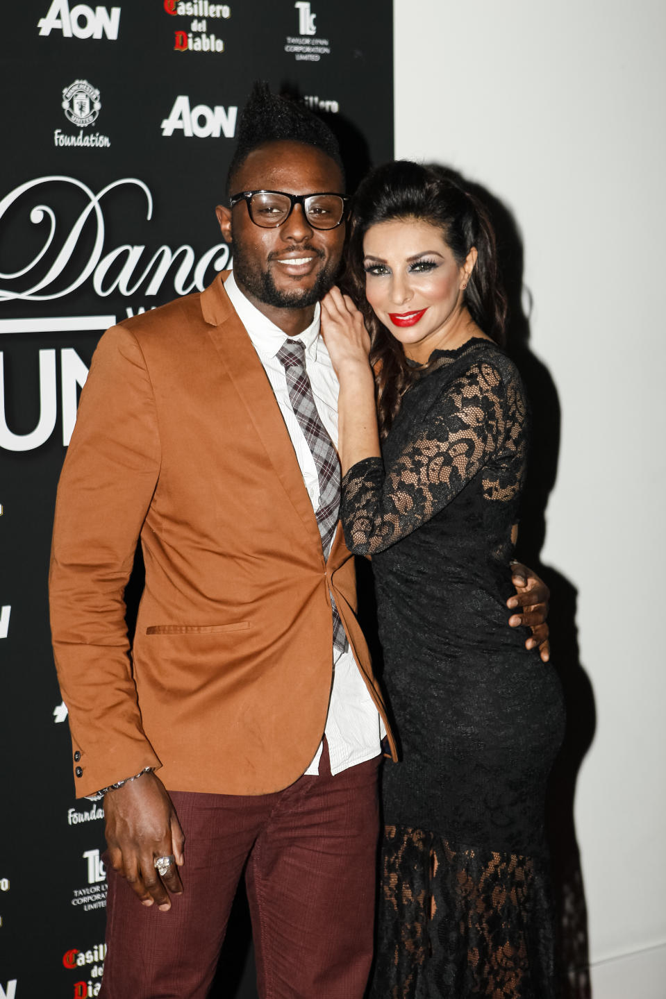 Shobna Gulati with former boyfriend, This Morning TV runner Anthony BRown. (Photo by Andrew Benge/WireImage)