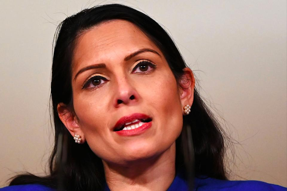 <p>Priti Patel is under fire for police data loss</p> (AFP/Getty)