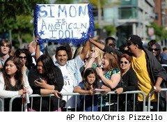 Fans gather for Simon Cowell's final appearance as a judge on