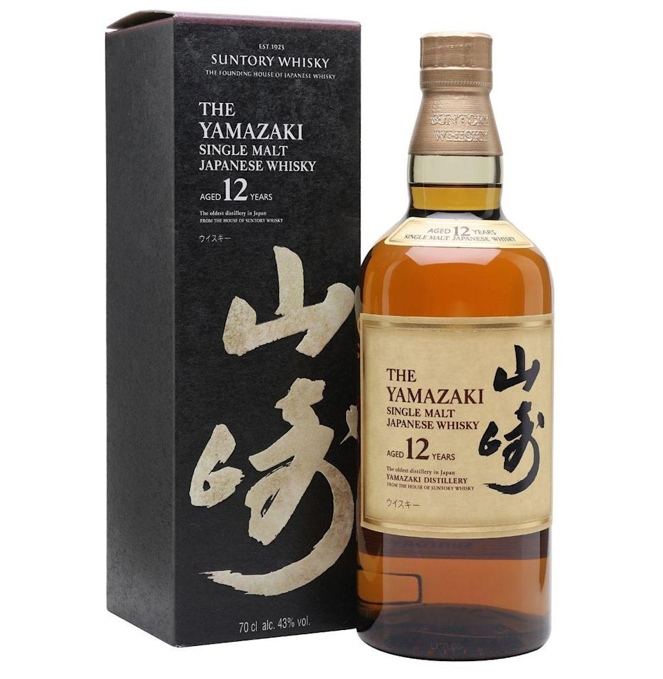 """<p><strong>Suntory Whisky</strong></p><p>wine.com</p><p><a href=""""https://go.redirectingat.com?id=74968X1596630&url=https%3A%2F%2Fwww.wine.com%2Fproduct%2Fsuntory-yamazaki-12-year-single-malt-japanese-whisky%2F532121&sref=https%3A%2F%2Fwww.esquire.com%2Ffood-drink%2Fdrinks%2Fg3047%2Fgifts-for-the-modern-whisky-drinker%2F"""" rel=""""nofollow noopener"""" target=""""_blank"""" data-ylk=""""slk:Buy"""" class=""""link rapid-noclick-resp"""">Buy</a></p><p><strong>$159.76<a href=""""https://www.esquire.com/food-drink/drinks/a27466729/best-japanese-whiskey-bottles/"""" rel=""""nofollow noopener"""" target=""""_blank"""" data-ylk=""""slk:"""" class=""""link rapid-noclick-resp""""><br></a></strong><a href=""""https://www.esquire.com/food-drink/drinks/a27466729/best-japanese-whiskey-bottles/"""" rel=""""nofollow noopener"""" target=""""_blank"""" data-ylk=""""slk:Japanese whiskies"""" class=""""link rapid-noclick-resp"""">Japanese whiskies</a>, as rare and sought-after as they've become, aren't exactly easy to track down. So do your giftee a solid and score a bottle of Yamazaki 12, a quintessential Japanese offering that makes a long-lasting impression.<strong><br></strong></p>"""