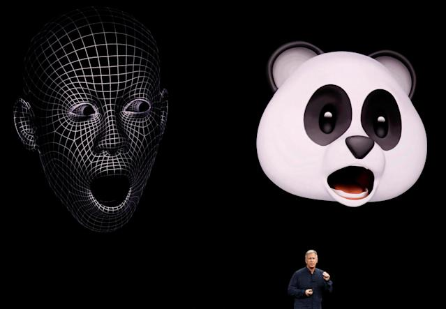 Animoji: Apple demonstrates iPhone X's new animated emoji by turning executives into pandas
