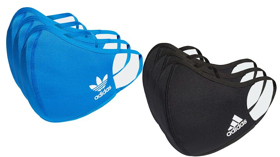 The face masks have Adidas's iconic three-stripe logo and will look cool for any occasion.